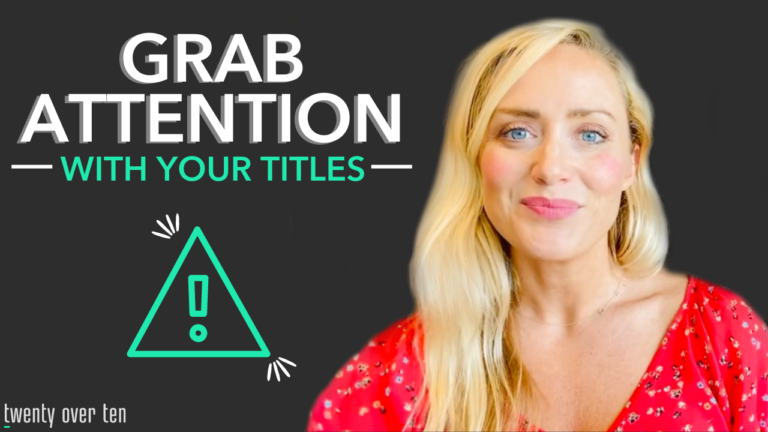 Titles get attention. Here are four tips to craft titles that will get you more eyes on your content and more prospects, too.