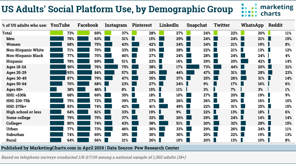 social media use by demographic