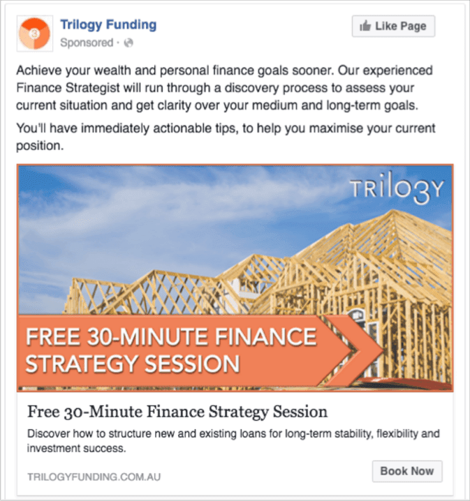 Trilogy Funding Example Ad