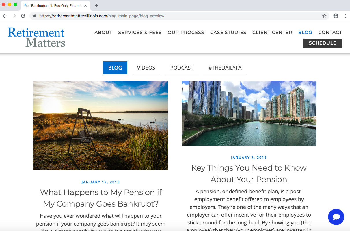 financial advisor blogging