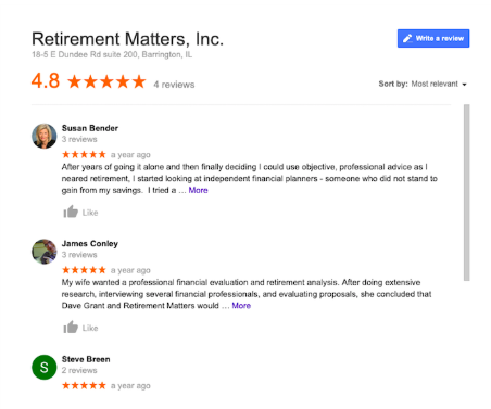 Retirement Matters Review