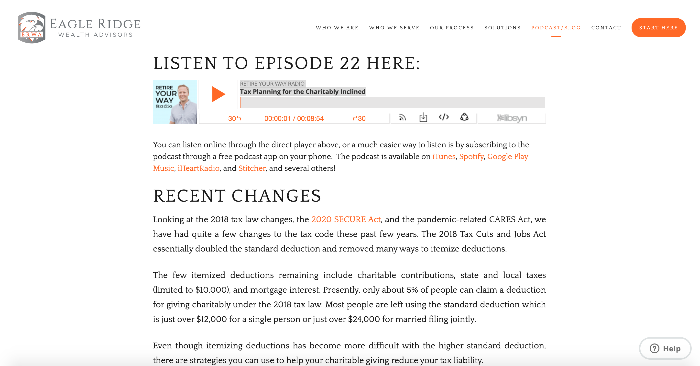 Eagle Ridge Wealth Advisors podcast