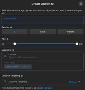 boost facebook post custom audience targeting