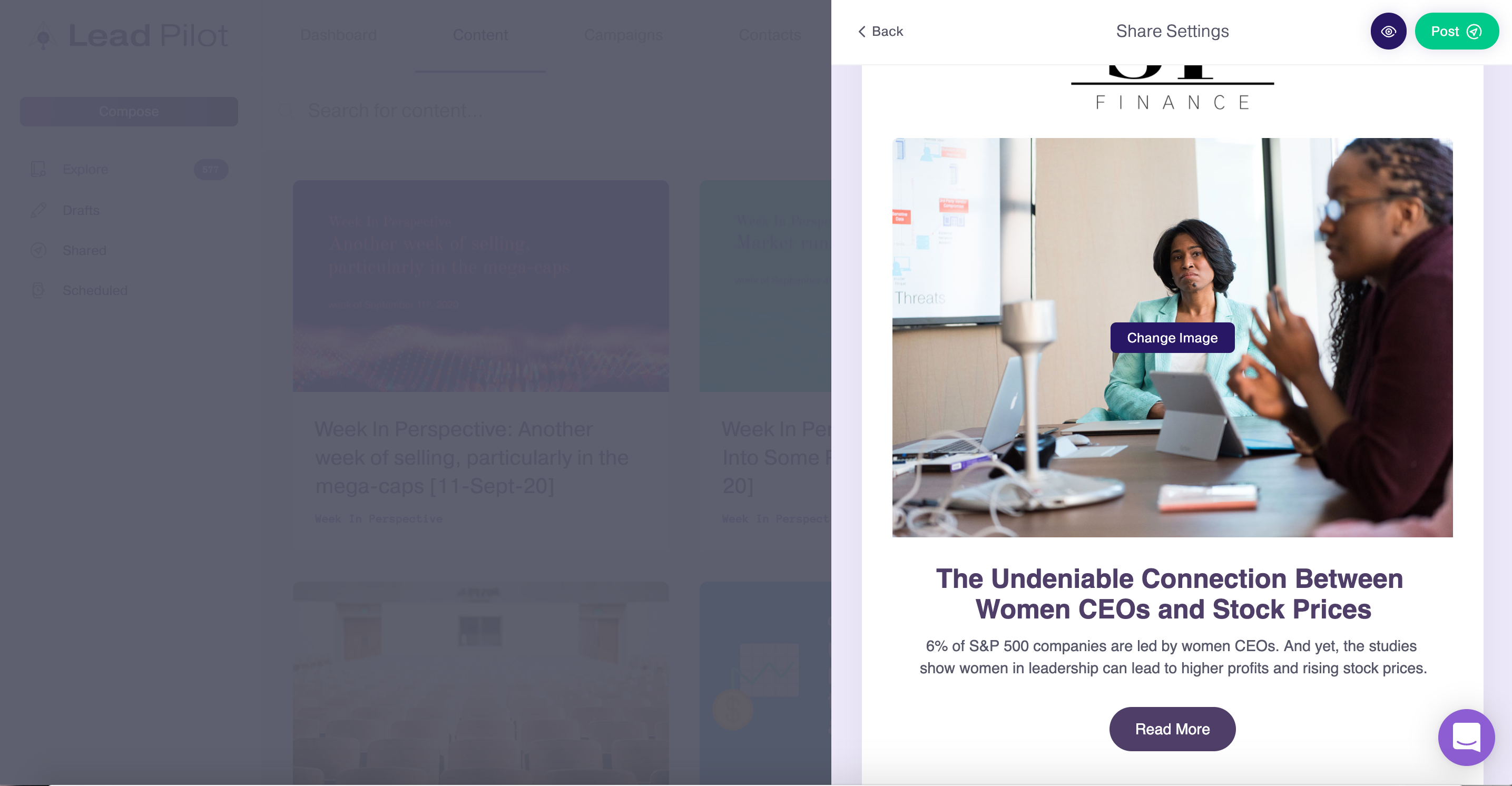 visuals in emails lead pilot automation